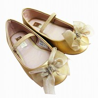 Flower Girls Golden Shoes 2016 Bbay Big Head Shoes Euro Brand Girls Party And School Shoes