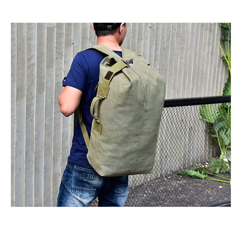 Large Capacity Backpack Man Mountaineering Male Outdoor Travel Luggage Bags Boys Canvas Bucket Shoulder Bags Men Backpacks S/L 9