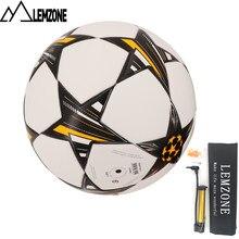 2018 Brand New PU Bola De Futebol Tamanho 5 Para a Liga Dos Campeões  formação voetbal futbol + Bomba de bola de futebol de balão. 2e7efa0bd0307