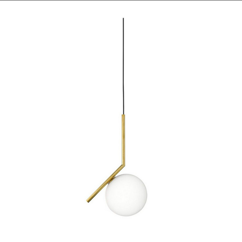 Post-modern Simple Milk White Glass Ball Iron Led E27 Pendant Light For Dining Room Living Room Bar Dia 20cm 1146 modern minimalism creative milk white frosted glass ball led e27 pendant light for living room dining room 1696