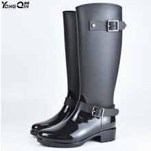 Для женщин дождь Сапоги и ботинки для девочек удобные Водонепроницаемый весенне-осенняя обувь непромокаемые сапоги женские ботильоны Большие размеры 40