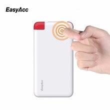 Easyacc 4000 мАч банк силы ультра-тонкий портативный 18650 внешнее зарядное устройство powerbank встроенный micro usb для iphone xiaomi