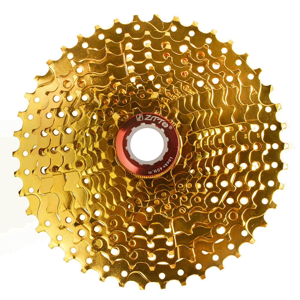 Gold Golden MTB <font><b>Cassette</b></font> <font><b>11</b></font> Speed <font><b>11</b></font>-42T <font><b>42</b></font> T for Shimano XT M8000 SLX M7000 M9000 Sram NX GX Cheap Mountain Bike flywheel DH image