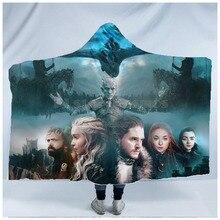 Plstar Cosmos Game of Thrones Blanket  Hooded 3D full print Wearable Adults men women style9
