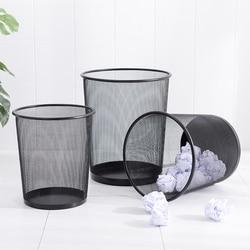 3 sztuk drut kolczasty kosz na śmieci biuro odkryte śmieci może proste nowoczesne domu duże hollow kosz na papier