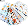 Syunss Cute Fox Bear Arrow Printed Cotton Fabric for Diy Patchwork Quilting Baby Cribs The Cloth Cushions Blanket Sewing Tissus