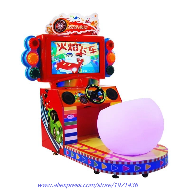 Drive Car Games Amusement Equipment Coin Operated Arcade Simulator Car Racing Game Machine For Children