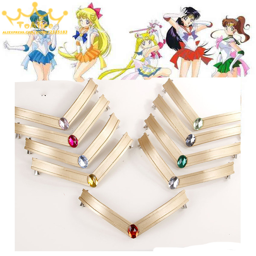 Japanese Sailor Moon Tsuking Usagi Sailor Mars Chibi Jupiter EVA   Headwear   Headband Tiara 25th Anniversary Cosplay Prop Accessory