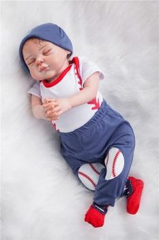 """Muñeca reborn de silicona de 20 """", 100% hecha a mano, muñeca reborn realista para recién nacido con tacto suave, regalo bebe renacido, muñeca boutique boneca de alta gama"""