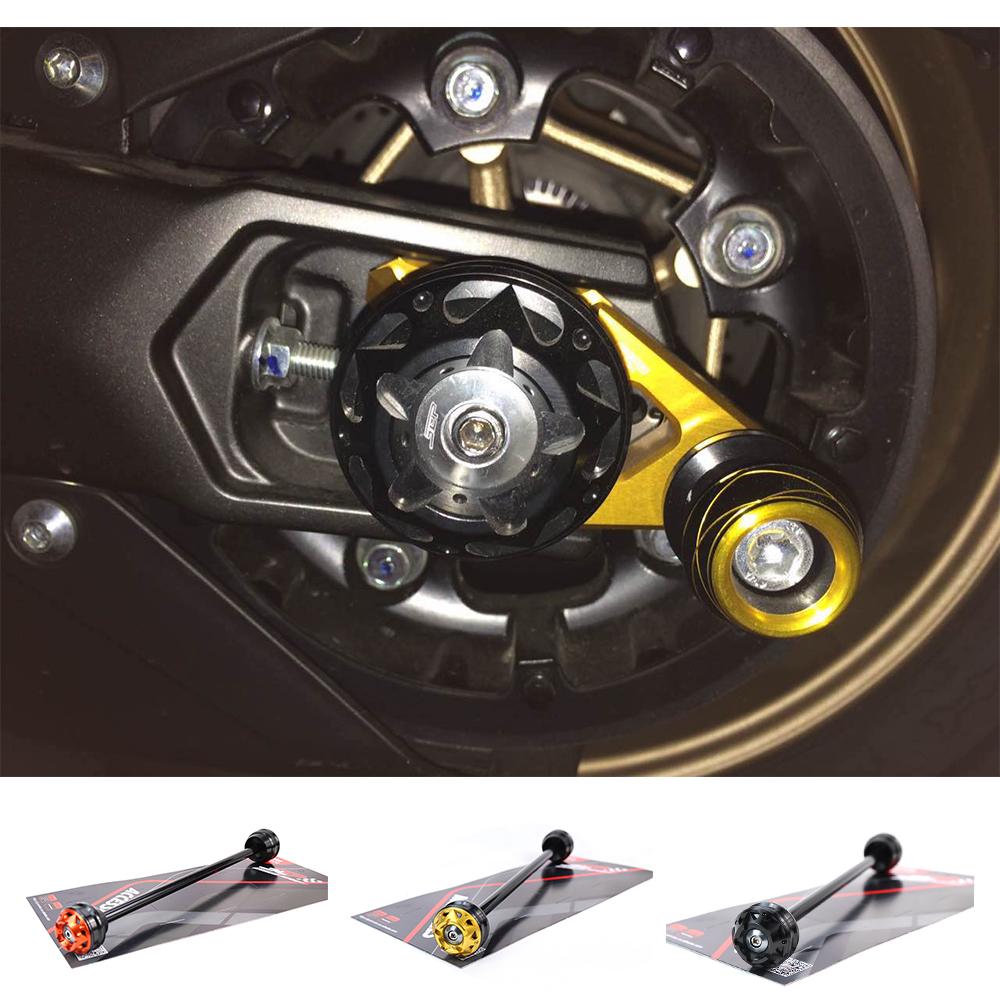 Motorcycle CNC Aluminum Alloy Rear Axle Fork Wheel Protector Crash Sliders For Yamaha TMAX 530 Accessori 12-15 T MAX 500 08-11