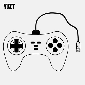YJZT 14.4CM*11CM Gaming Controller Joypad Gamer Gameplay Vinyl Decoration Car Sticker C22-0381 image