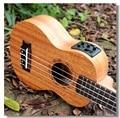 Soprano Acoustic Electric Ukulele 21 Inch Guitar 4 Strings Ukelele Guitarra Handcraft Wood White Guitarist Mahogany Plug-in Uke