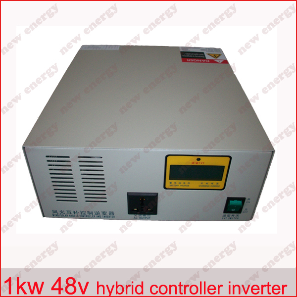LCD display ,by pass function, 1000VA / 1000w 48v wind solar hybrid controller inverter