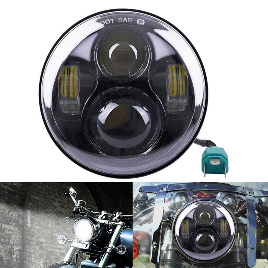 1 PCS 5 75 40W 1770LM H4 High Low Beam LED Headlight 5 3 4 Projector