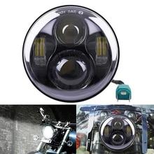 """1 UNIDS 5.75 """"40 W 1770LM H4 Alta Baja de la Viga LED Linterna 5-3/4″ Lámpara del proyector de Luz Para Harley Davidson Motocicleta Envío Gratis"""