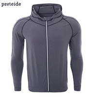Mens Sports Jerseys Hoodies Fitness Sweater Gym Tops Outerwear Bodybuilding Sportswear Running Jacket Quick Dry Tops