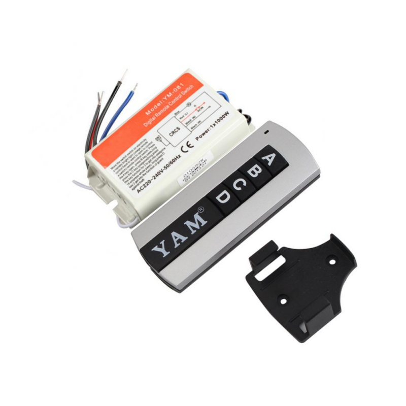 220 V DIY 1/2/<font><b>3</b></font>/4 Ways ON / OFF Remote Digital Wireless Remote Control Switch for Light Bulb image