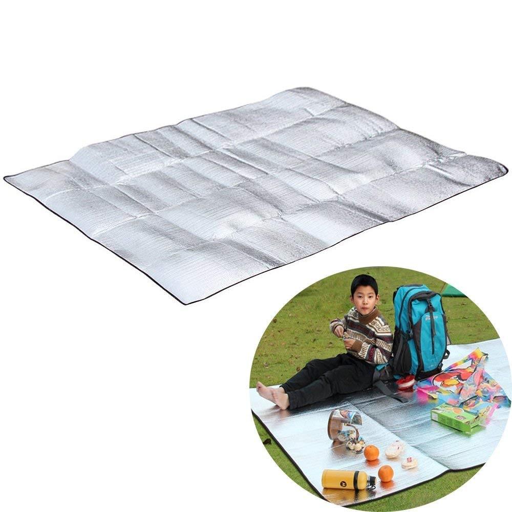 Double Sided Camping Sleeping Mattress Pad Moistureproof Aluminium Film EVA Mat
