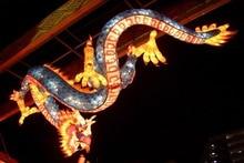 japanese lantern lamp light asian oriental bokeh dragon fantasy 4 size home decoration canvas poster print asian lighting