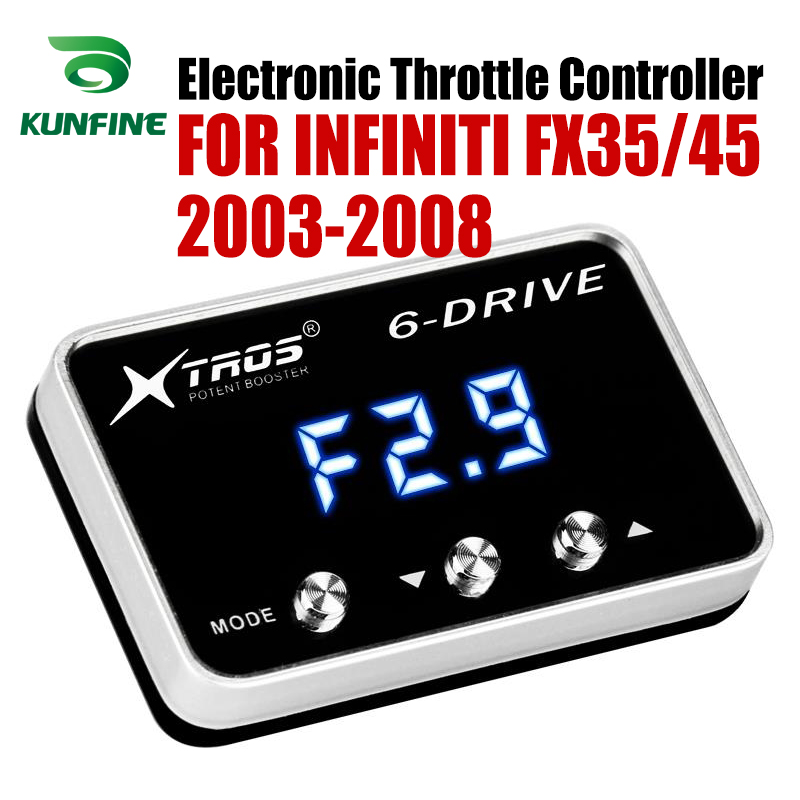 Car Electronic Throttle Controller Racing Accelerator Potent Booster For INFINITI FX35/45 2003-2008 Tuning Parts AccessoryCar Electronic Throttle Controller Racing Accelerator Potent Booster For INFINITI FX35/45 2003-2008 Tuning Parts Accessory