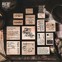 цена на Vintage English series wood stamp DIY craft wooden rubber stamps for scrapbooking stationery scrapbooking standard stamp