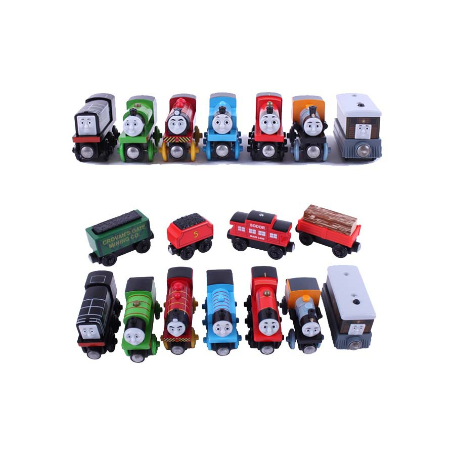 10pcs/lot Magnetic wooden Tomas and Friends small Train toys railway set