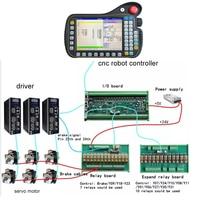 GH 6 axis Robot Controller+3 pcs absolute servo driver,220VAC