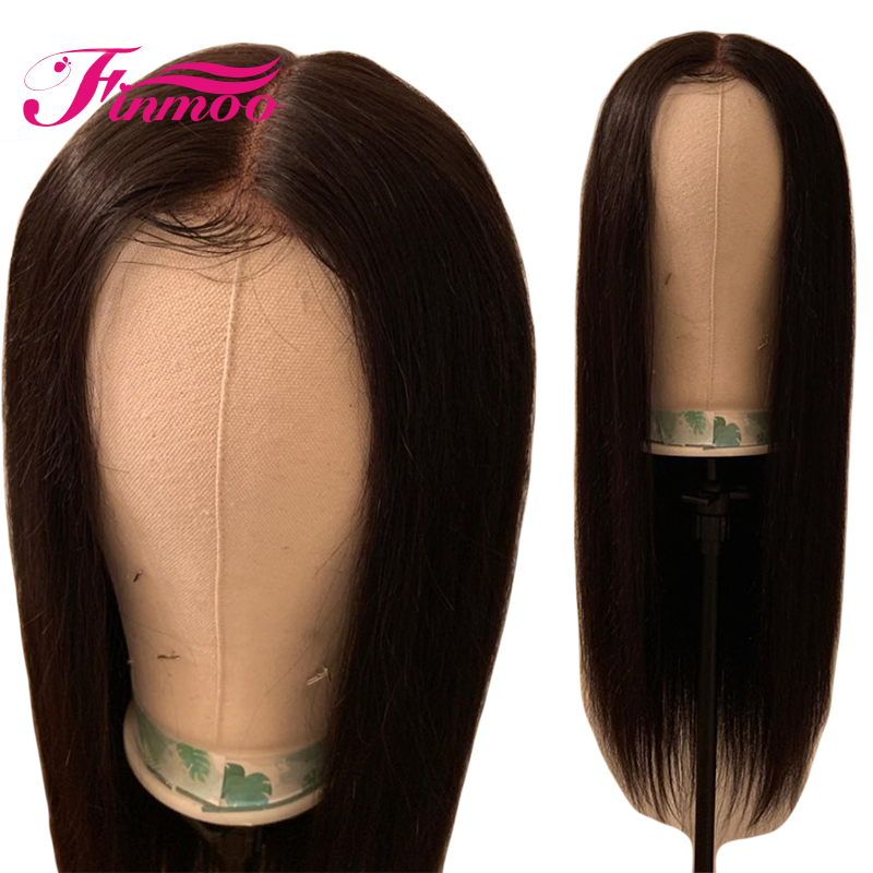 Full Lace Human Hair Wig Straight Chinese Remy Hair Natural Hairline Pre Plucked Human Hair Wigs