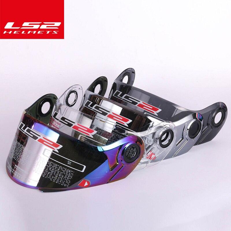 LS2 ff370 Flip Up casque de moto visière approprié pour LS2 FF394 FF325 casque Multi coloroptional coloré Anti brouillard lentille dans Casques de Automobiles et Motos