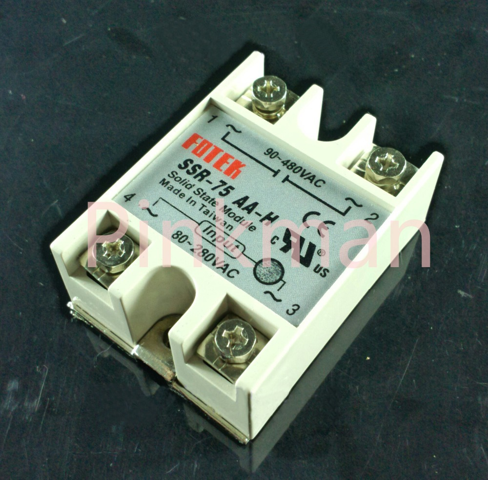 1 pc FOTEK 75AA Solid State Relay  SSR  Single Phase AC-AC normally open single phase solid state relay ssr mgr 1 d48120 120a control dc ac 24 480v