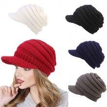 892ac9b69b523 Women Soft Stretch Cable Knit Messy Hat Warm Crochet Wool Ski Skull Slouchy  Caps boina masculina