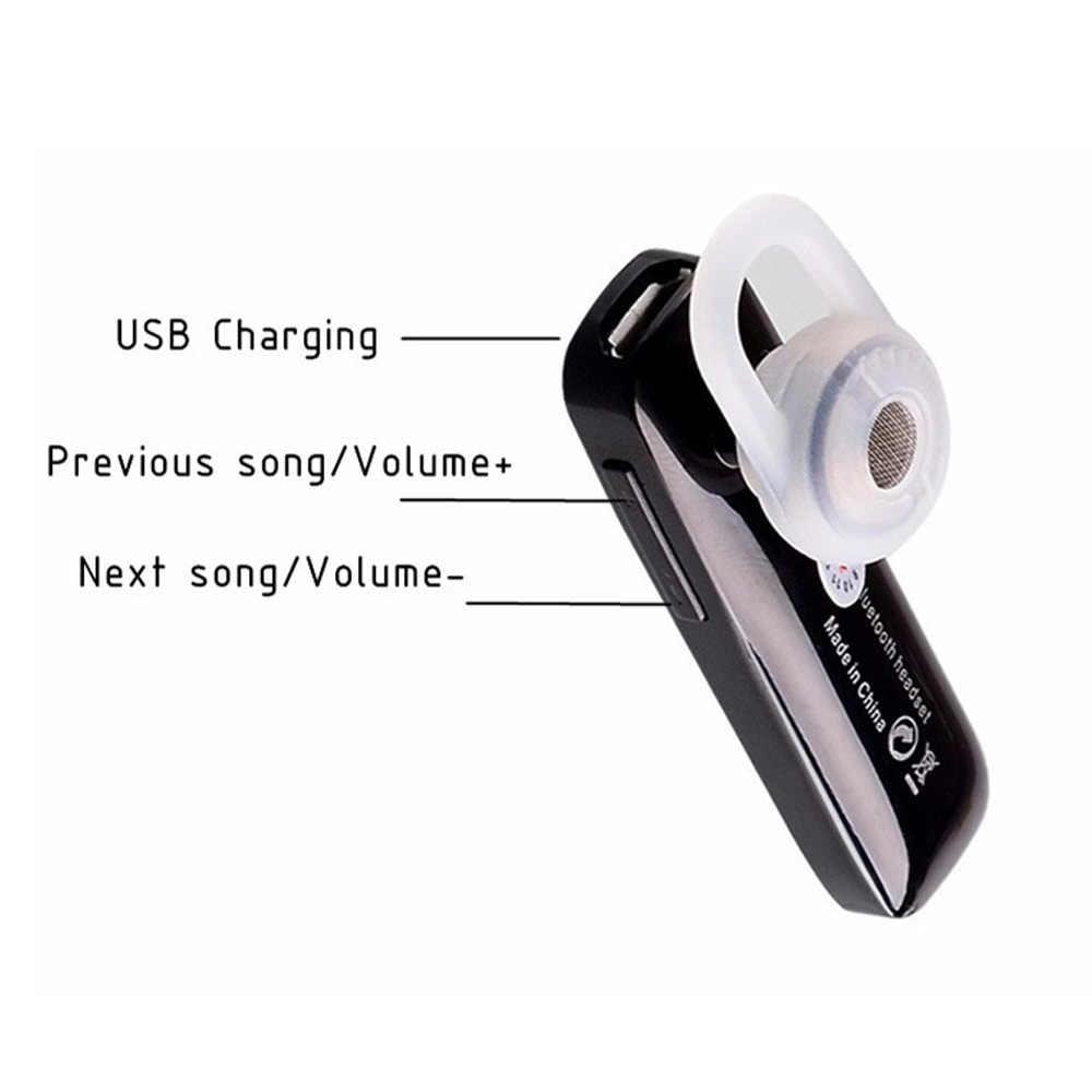 M165 אלחוטי אוזניות fone דה ouvido Bluetooth אוזניות אוזניות אפרכסת עם מיקרופון אוניברסלי עבור טלפון חכם