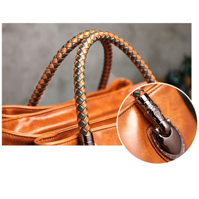 Luxury Brand 100% Genuine Leather Women's Messenger Bags Ladies Handbags High Quality Designer Shoulder Tote Bag For Female 3