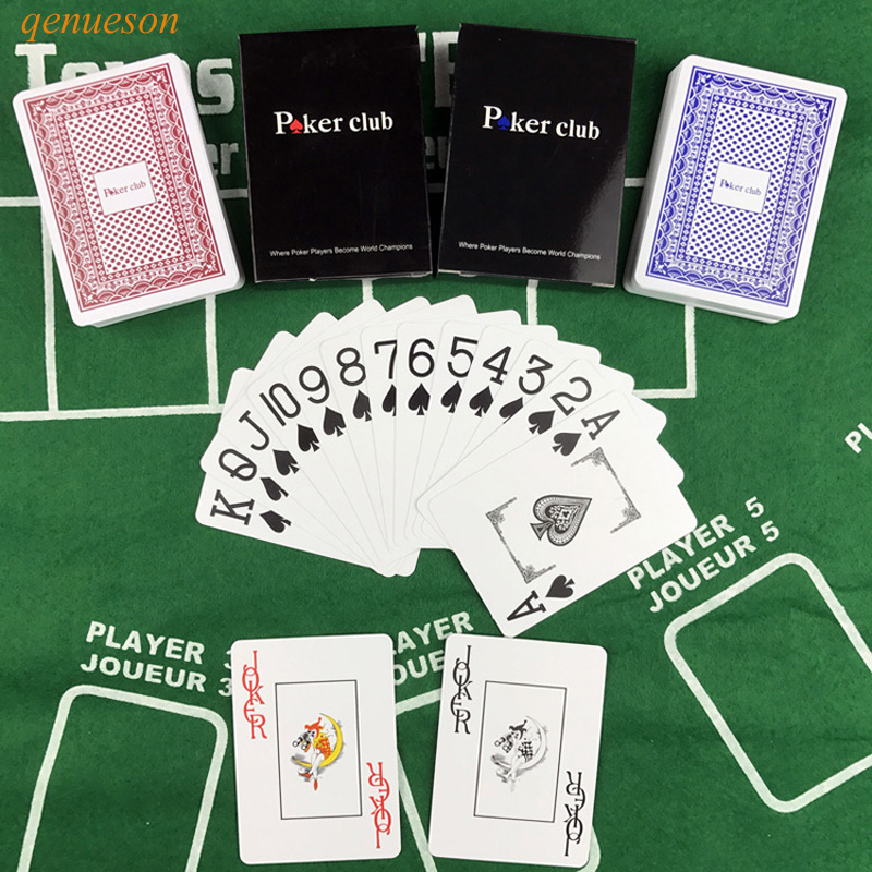 Smooth Waterproof 10 Sets/Lot Baccarat Texas Holdem Plastic Playing Cards PVC Poker Club Cards Board Games 63mm * 88mm qenueson