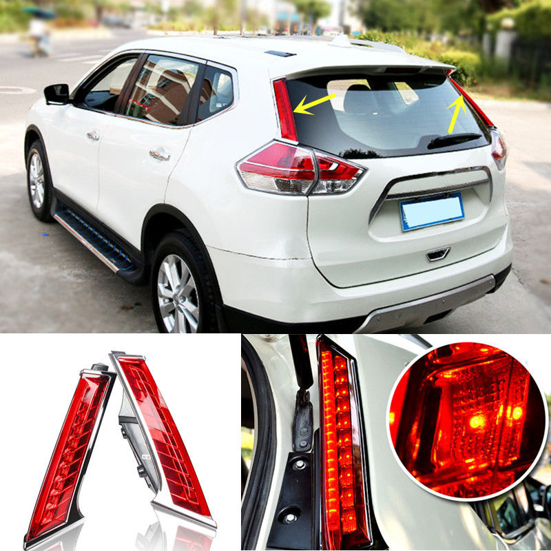Car Styling LED Column Tail Lamp Rear Light Brake Lamp Back Fog Light Driving Light For Nissan X-trail Xtrail 2014 2015 2016