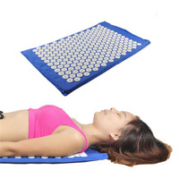 Acupressure Mat Relieve Stress Pain Acupuncture Spike Yoga Mat Massager Mat Blue Purple Green Colors To