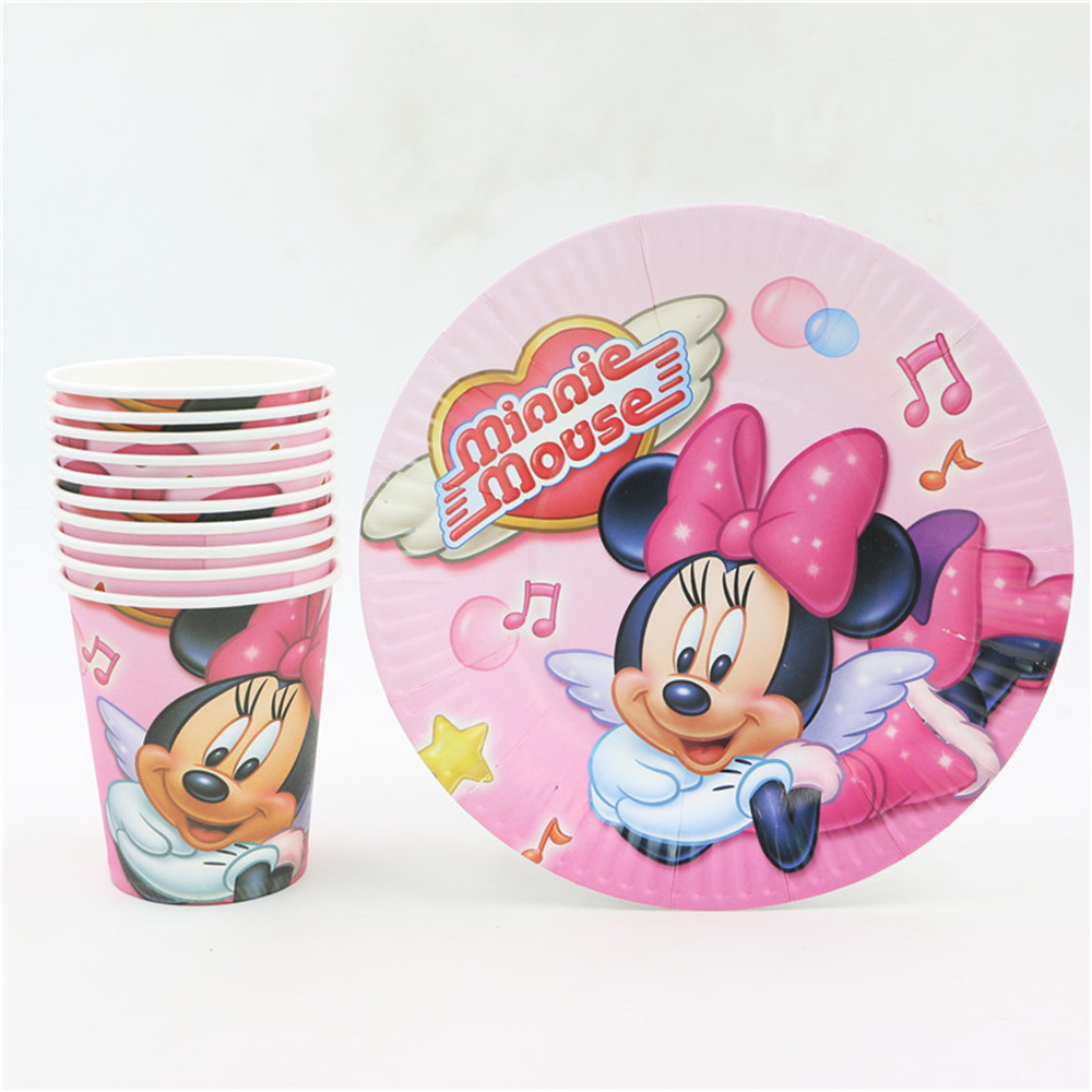 Minnie mouse de la muchacha feliz cumpleaños party decoration supplies favores d