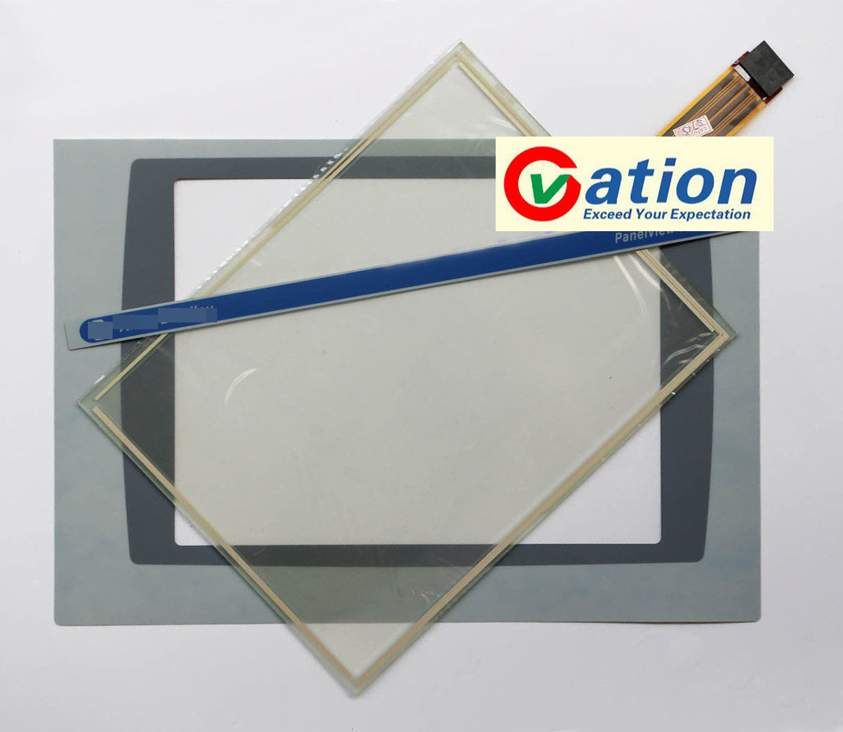 1000 2711P-RDT10C 2711P-T10C4D1 Touch Screen + Protective film for 1000 2711p t10c21d8s touch screen glass panel