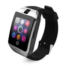 Negro Cawono Q18 Bluetooth Reloj Inteligente Android Smartwatch Reloj Relogio reloj Inteligente NFC GSM SIM para Apple HUAWEI VS DZ09