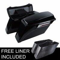 Hard Saddle bags Saddlebag Trunk +Lid Latch Keys For Harley Touring Street Electra Glide Road King Ultra FLHR 1994 2013