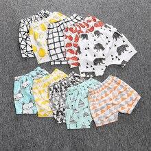 Детские короткие штаны для маленьких мальчиков и девочек; Свободные повседневные короткие леггинсы с рисунком животных; летние штаны; одежда