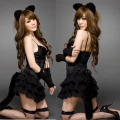Sexy Cat uniforms big size plus size sexy costume cute Feather Tail G-Thongs lingerie Cat ladies sexy underwear sexy lingerie