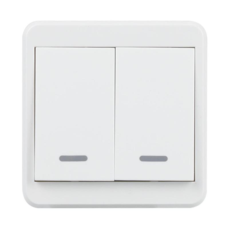 Wifi Wall Light Switch 2 Gang Push Button Remote Control Switch Wireless Timer Smart Light Switch for Android iOS UK plug mini interruptor switch button mkydt1 1p 3m power push button switch foot control switch push button switch