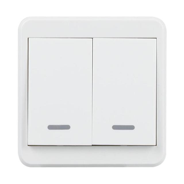 wifi wall light switch 2 gang push button remote control switch wireless timer smart light. Black Bedroom Furniture Sets. Home Design Ideas
