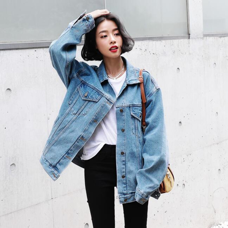 Aliexpress.com  Buy 2017 Women Basic Coats Autumn Winter Women Denim Jacket plus size Vintage ...
