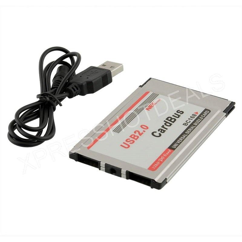 Адаптер PCMCIA-USB 2,0, кардшина, 2 порта, 480 м