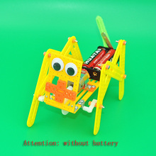цена на DIY Robot Dog Model Science Expriment Toy Children Teaching Aid Kids Creativity Steam Educational Assembly  Free Shipping 2019