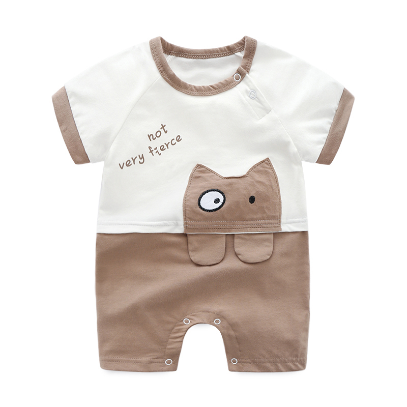 Cotton Summer Baby Clothes One Piece Jumpsuit Infantil Newborn Baby Boy Clothes Cute Cartoon Pink Rompers For Boy And Girls