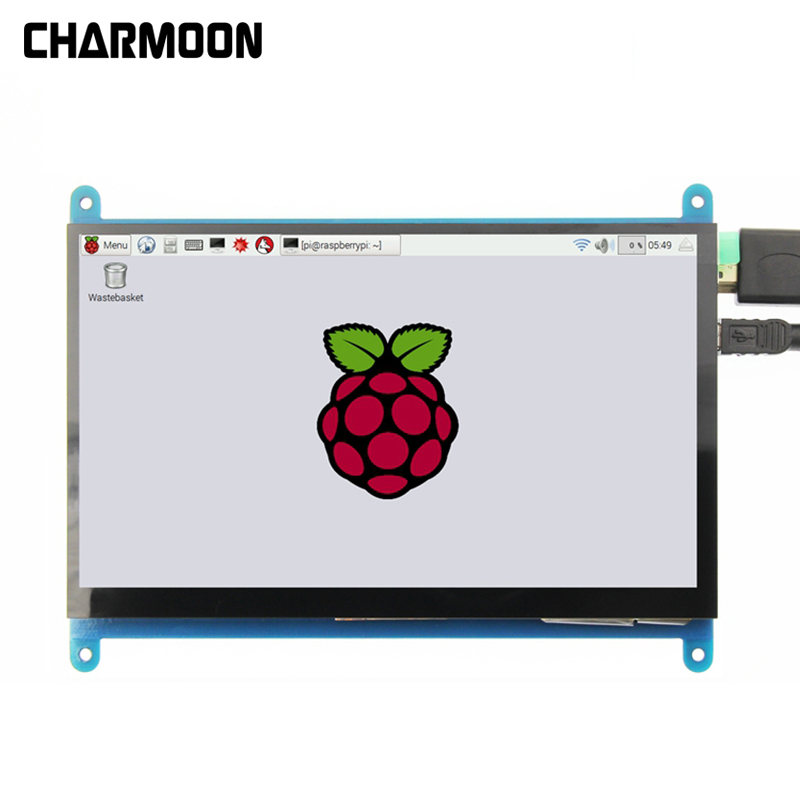 For Raspberry pi 7inch HDMI LCD Capacitive 5 Point Touch Screen Display 1024 600 High Resolution