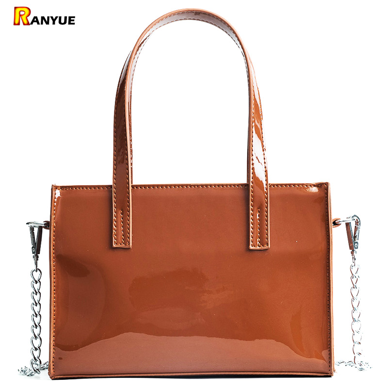 Red Luxury Chain Patent Leather Handbags Women Bags Fashion Designer Tote Bag Ladies Hand Bags Famous Brand Women Shoulder Bags 2018 women bag luxury fashion handbag ladies famous designer brand shoulder bags women leather handbags women messenger bag tote